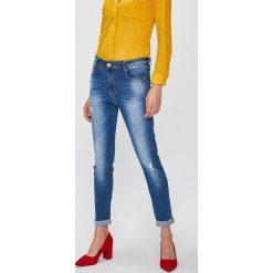 Answear - Jeansy Falling In Autumn. Szare jeansy damskie rurki marki G-Star RAW, z obniżonym stanem. W wyprzedaży za 69,90 zł.