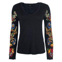 Desigual T-Shirt Damski Claudina Xs Czarny. Szare t-shirty damskie marki Desigual, l, z tkaniny, casualowe, z długim rękawem. Za 249,00 zł.