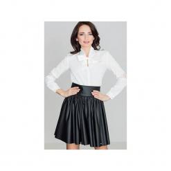 Spódnica K326 Czarny. Czarne spódniczki skórzane marki Lenitif, m, w paski. Za 139,00 zł.