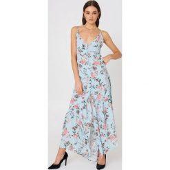 Sukienki hiszpanki: Flynn Skye Sukienka Unbutton Me Fresh – Blue,Multicolor