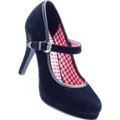 Czółenka bonprix czarny. Czarne buty ślubne damskie bonprix, na platformie. Za 89,99 zł.