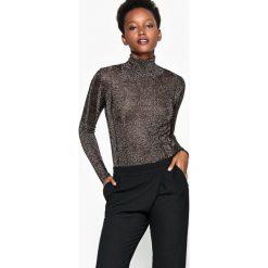 Sweter z wiskozy z golfem i metalicznymi włóknami. Żółte golfy damskie La Redoute Collections, l, z wiskozy. Za 188,96 zł.