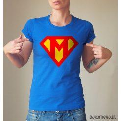 Super mama dopasowana koszulka tshirt damski. Szare bluzki damskie Pakamera, s, z nadrukiem, z bawełny. Za 85,00 zł.