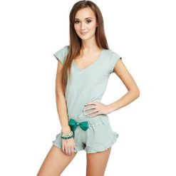 Piżamy damskie: Piżama w kolorze pistacjowym