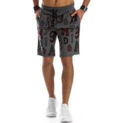 Spodenki i szorty męskie: Krótkie spodenki dresowe męskie szare (sx0316)