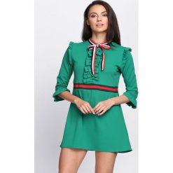 Zielona Sukienka One More Time. Zielone sukienki mini marki Born2be, l. Za 79,99 zł.