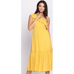 Sukienki: Żółta Sukienka On High