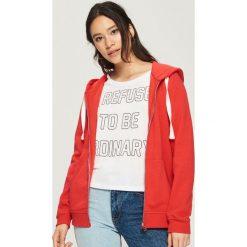 Bluza z kapturem - Pomarańczo. Szare bluzy rozpinane damskie Sinsay, l, z kapturem. Za 49,99 zł.