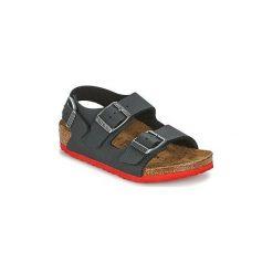 Sandały Dziecko  Birkenstock  MILANO. Czarne sandały chłopięce Birkenstock. Za 167,30 zł.