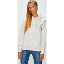 Fresh Made - Bluza. Szare bluzy rozpinane damskie Fresh Made, l, z aplikacjami, z bawełny, z kapturem. W wyprzedaży za 129,90 zł.