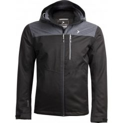 Kurtka miejska męska KUM606 - czarny - Outhorn. Czarne kurtki męskie przejściowe marki Outhorn, na lato, z bawełny. W wyprzedaży za 129,99 zł.