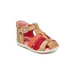 Sandały Dziecko  Kickers  BIGFLY. Niebieskie sandały dziewczęce marki Kickers, z kauczuku, na sznurówki. Za 231,20 zł.