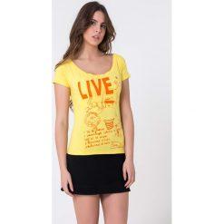 T-shirty damskie: T-shirt w kolorze żółtym