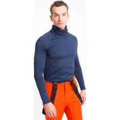 Bielizna termoaktywna męska BIMD001z - granatowy melanż. Niebieskia odzież termoaktywna męska marki 4f, m, melanż, z dzianiny. Za 69,99 zł.