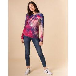 Bluzy damskie: Bluza bawełniana damska Red Nebula