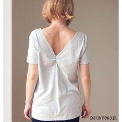 Szara dwustronna bluzka S-XL. Niebieskie bluzki damskie marki Pakamera, z bawełny. Za 65,00 zł.