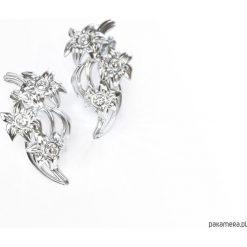 Kolczyki damskie: Kwiatowe kolczyki z kamieniami