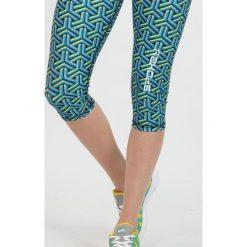 Spodnie sportowe damskie: Spokey Leginsy damskie Prato 3/4 fitness niebieskie r. L (839480)