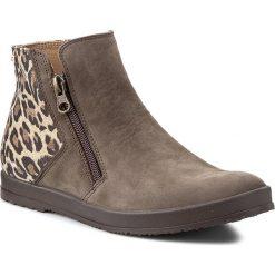 Botki A.J.F. - 00916  Brąz Nubuk 272/691. Brązowe buty zimowe damskie A.J.F., z nubiku. W wyprzedaży za 229,00 zł.