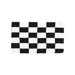 Kopertówki damskie: Kopertówka w kolorze biało-czarnym – (S)25 x (W)17 x (G)1 cm