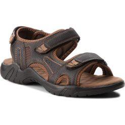 Sandały męskie: Sandały GINO LANETTI – MSS14-255 Brązowy