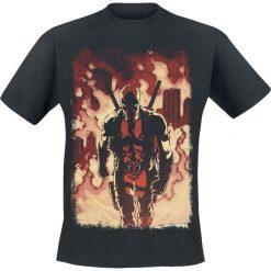 T-shirty męskie z nadrukiem: Deadpool Firewalk T-Shirt czarny