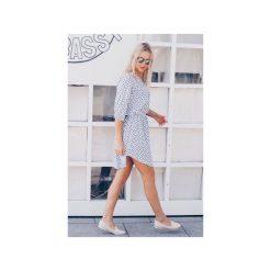 Sukienka Spring. Białe sukienki asymetryczne marki Wow fashion, m, z asymetrycznym kołnierzem. Za 199,00 zł.