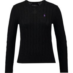 Swetry klasyczne damskie: Polo Ralph Lauren JULIANNA Sweter polo black