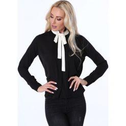 Koszula z wiązaniem czarna MP26004. Czarne koszule wiązane damskie marki Fasardi, m. Za 63,20 zł.