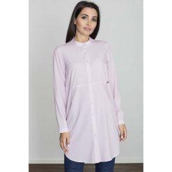 Bluzki, topy, tuniki: Różowa Koszula -Tunika Zapinana Na Zatrzaski