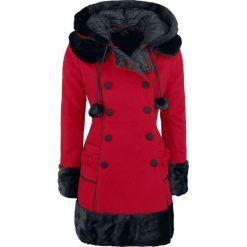 Płaszcze damskie pastelowe: Hell Bunny Sarah Jane Coat Płaszcz damski czerwony