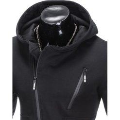 BLUZA MĘSKA ROZPINANA Z KAPTUREM B738 - CZARNA. Czarne bluzy męskie rozpinane marki Ombre Clothing, m, z bawełny, z kapturem. Za 69,00 zł.