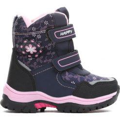Buty dziecięce: Granatowe Śniegowce Disobedient