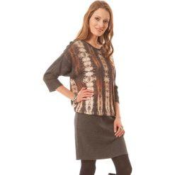 Sukienki hiszpanki: Sukienka w kolorze brązowo-szarym