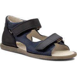 Sandały MRUGAŁA - Flo 1205-77 Blu. Niebieskie sandały męskie skórzane marki Mrugała. W wyprzedaży za 129,00 zł.