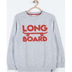 Bluza. Szare bluzy chłopięce rozpinane SKATE CLUB, z aplikacjami, z bawełny, z długim rękawem, długie. Za 69,90 zł.
