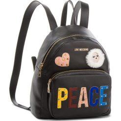 Plecak LOVE MOSCHINO - JC4270PP06KJ0000 Nero. Czarne plecaki damskie Love Moschino, ze skóry ekologicznej. W wyprzedaży za 769,00 zł.