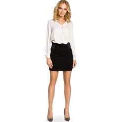 Spódniczki: Czarna Dopasowana Spódnica Mini z Elastycznymi Wstawkami