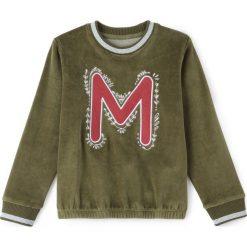 Bluzy dziewczęce: Bluza welurowa ze wzorem M 3-12 lat