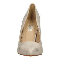CZÓŁENKA CASU PM-119. Brązowe buty ślubne damskie Casu, na koturnie. Za 69,99 zł.