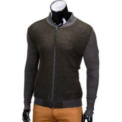 BLUZA MĘSKA ROZPINANA BEZ KAPTURA B551 - ZIELONA/MELANŻOWA. Zielone bluzy męskie rozpinane marki Ombre Clothing, m, z bawełny, bez kaptura. Za 49,00 zł.