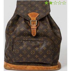 """Plecaki damskie: Plecak """"Montsouris GM"""" w kolorze brązowym – 21 x 13 x 3 cm"""