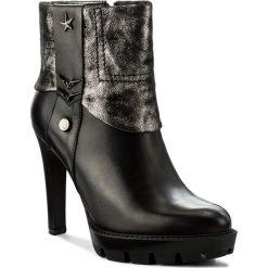 Botki CARINII - B4157/N E50-K87-POL-A14. Czarne buty zimowe damskie Carinii, ze skóry, na obcasie. W wyprzedaży za 249,00 zł.