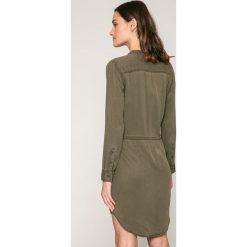 Only - Sukienka Heather. Szare długie sukienki marki ONLY, s, z bawełny, casualowe, z okrągłym kołnierzem. W wyprzedaży za 119,90 zł.