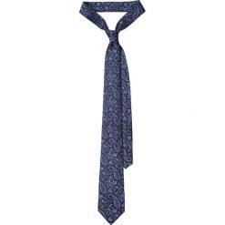 Krawat Granatowy Paisley. Niebieskie krawaty męskie LANCERTO, paisley, eleganckie. Za 139,90 zł.