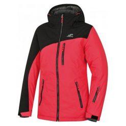 Hannah Yolanda Teaberry/Black Mel 36. Czarne kurtki sportowe damskie marki Hannah, z tworzywa sztucznego, narciarskie. W wyprzedaży za 340,00 zł.