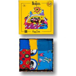 Skarpety Happy Socks x The Beatles Giftbox 3-pack 50th Anniversary (SMI01-6000). Żółte skarpetki męskie marki Reserved. Za 119,99 zł.
