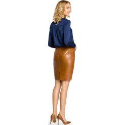 RIVER Spódniczka ołówkowa eko skóra - kamelowa. Brązowe spódniczki ołówkowe Moe, ze skóry. Za 99,00 zł.