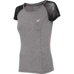 Koszulka treningowa damska TSDF301 - szary melanż. Szare bluzki z odkrytymi ramionami marki 4f, melanż, z dzianiny. Za 69,99 zł.