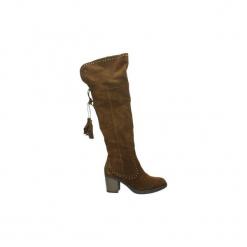 Kozaki Carmela  66375. Brązowe buty zimowe damskie Carmela. Za 483,65 zł.